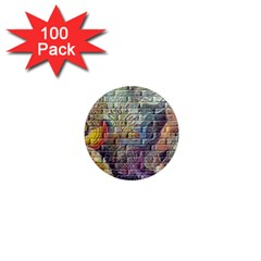 Brick Of Walls With Color Patterns 1  Mini Magnets (100 pack)