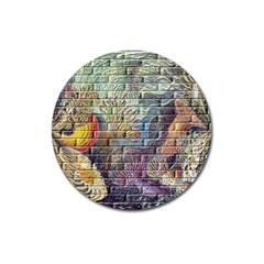 Brick Of Walls With Color Patterns Magnet 3  (Round)