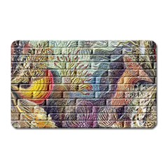 Brick Of Walls With Color Patterns Magnet (rectangular)