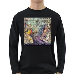 Brick Of Walls With Color Patterns Long Sleeve Dark T-Shirts