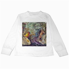 Brick Of Walls With Color Patterns Kids Long Sleeve T-Shirts