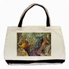Brick Of Walls With Color Patterns Basic Tote Bag