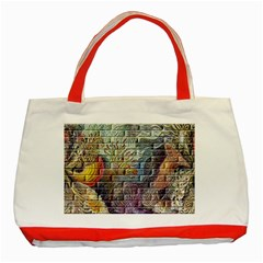 Brick Of Walls With Color Patterns Classic Tote Bag (Red)