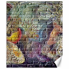 Brick Of Walls With Color Patterns Canvas 8  x 10
