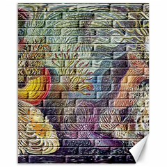 Brick Of Walls With Color Patterns Canvas 16  x 20