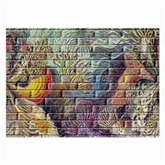 Brick Of Walls With Color Patterns Large Glasses Cloth (2-Side)