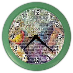 Brick Of Walls With Color Patterns Color Wall Clocks