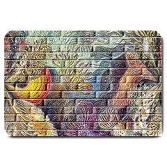 Brick Of Walls With Color Patterns Large Doormat