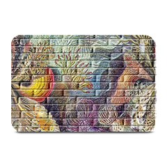 Brick Of Walls With Color Patterns Plate Mats