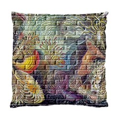 Brick Of Walls With Color Patterns Standard Cushion Case (One Side)