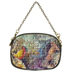 Brick Of Walls With Color Patterns Chain Purses (Two Sides)