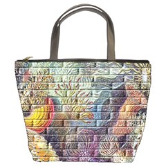 Brick Of Walls With Color Patterns Bucket Bags