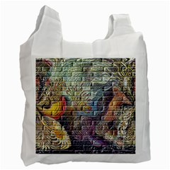 Brick Of Walls With Color Patterns Recycle Bag (Two Side)