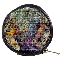 Brick Of Walls With Color Patterns Mini Makeup Bags