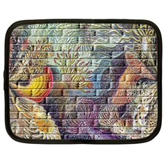 Brick Of Walls With Color Patterns Netbook Case (XXL)