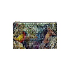 Brick Of Walls With Color Patterns Cosmetic Bag (Small)