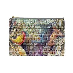 Brick Of Walls With Color Patterns Cosmetic Bag (Large)
