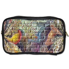 Brick Of Walls With Color Patterns Toiletries Bags 2 Side