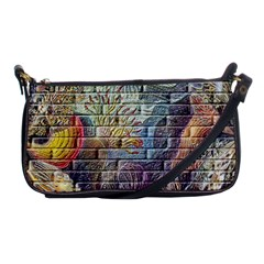 Brick Of Walls With Color Patterns Shoulder Clutch Bags