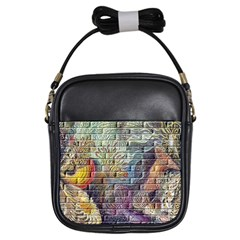 Brick Of Walls With Color Patterns Girls Sling Bags