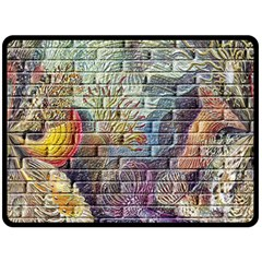Brick Of Walls With Color Patterns Fleece Blanket (Large)