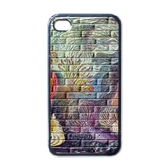 Brick Of Walls With Color Patterns Apple iPhone 4 Case (Black)