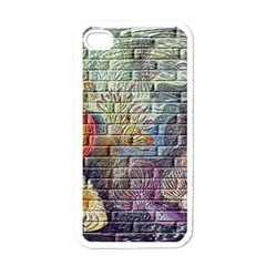 Brick Of Walls With Color Patterns Apple iPhone 4 Case (White)