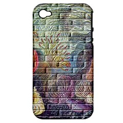 Brick Of Walls With Color Patterns Apple iPhone 4/4S Hardshell Case (PC+Silicone)
