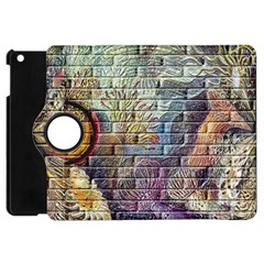 Brick Of Walls With Color Patterns Apple Ipad Mini Flip 360 Case