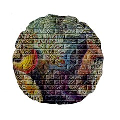 Brick Of Walls With Color Patterns Standard 15  Premium Round Cushions