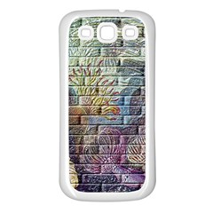 Brick Of Walls With Color Patterns Samsung Galaxy S3 Back Case (White)
