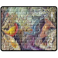 Brick Of Walls With Color Patterns Double Sided Fleece Blanket (medium)
