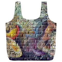 Brick Of Walls With Color Patterns Full Print Recycle Bags (l)