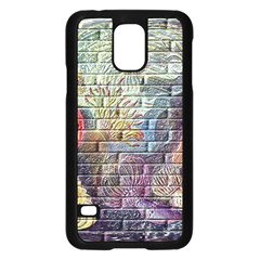 Brick Of Walls With Color Patterns Samsung Galaxy S5 Case (black)