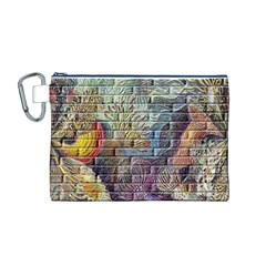 Brick Of Walls With Color Patterns Canvas Cosmetic Bag (m)