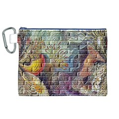 Brick Of Walls With Color Patterns Canvas Cosmetic Bag (xl)