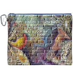 Brick Of Walls With Color Patterns Canvas Cosmetic Bag (xxxl)