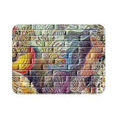 Brick Of Walls With Color Patterns Double Sided Flano Blanket (mini)