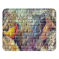 Brick Of Walls With Color Patterns Double Sided Flano Blanket (Large)