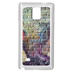 Brick Of Walls With Color Patterns Samsung Galaxy Note 4 Case (white)