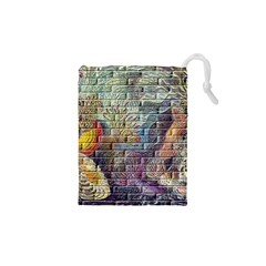 Brick Of Walls With Color Patterns Drawstring Pouches (xs)