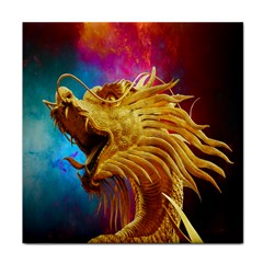 Broncefigur Golden Dragon Tile Coasters