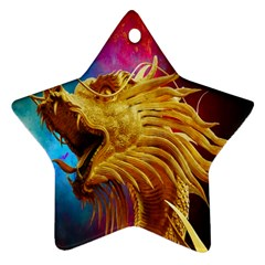 Broncefigur Golden Dragon Ornament (Star)