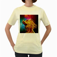 Broncefigur Golden Dragon Women s Yellow T-Shirt