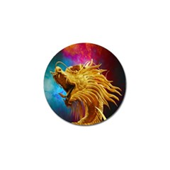 Broncefigur Golden Dragon Golf Ball Marker