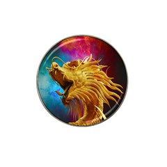 Broncefigur Golden Dragon Hat Clip Ball Marker