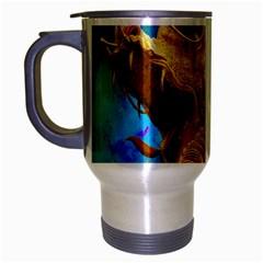 Broncefigur Golden Dragon Travel Mug (Silver Gray)