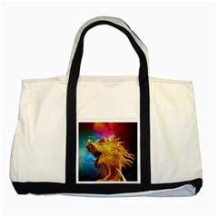Broncefigur Golden Dragon Two Tone Tote Bag