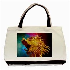 Broncefigur Golden Dragon Basic Tote Bag (Two Sides)