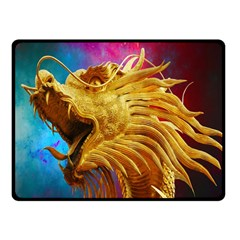 Broncefigur Golden Dragon Fleece Blanket (small)